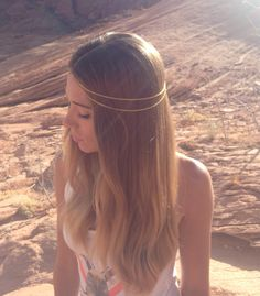 Boho Desert Chavi Head Chain by DwellerOfTheDesert on Etsy, $15.00 #headchain #boho #headpiece