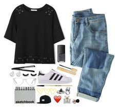 """"""""""" by mrs-nick-robinson ❤ liked on Polyvore featuring Wrap, MANGO, adidas Originals, NARS Cosmetics, Muse, Yves Saint Laurent, Bobbi Brown Cosmetics, Paperchase, Zoemou and Brixton"""