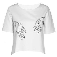 hands in gloves / shirt / silkscreen