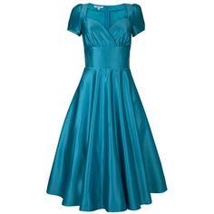 Dollydagger Kingfisher Blue Vivien 1950's Satin Dress – Dollydagger Boutique
