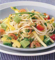 La dieta ALEA -  blog de nutrición y dietética, trucos para adelgazar, recetas para adelgazar: Ensalada de espaguetis frescos con queso