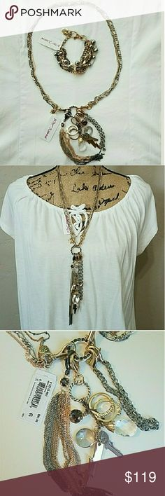 Betsey Johnson Throwback To Vintage Bundle NWT Betsey Johnson Throwback To Vintage Bundle. Bundle of necklace and bracelet. 100% authentic with tag AND barcode. Please check last 2 pictures for items description. Feel free to ask any questions before purchase. Bundle  & Save. Betsey Johnson Jewelry