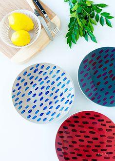 #DIY Painted Plates by Rachael Mary | rachaelmary.com.au