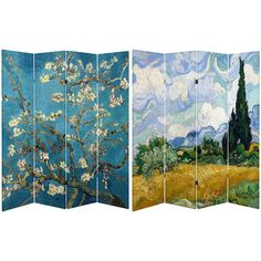"Found it at Wayfair - 71"" x 63"" Tall Almond Blossoms / Wheat Field 4 Panel Room Divider"