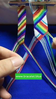 Diy Bracelets With String, Diy Bracelets Easy, Handmade Bracelets, Diy Friendship Bracelets Tutorial, Friendship Bracelet Patterns, Bracelet Tutorial, Macrame Bracelet Diy, Bracelet Crafts, Jewelry Kits