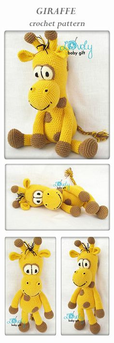 amigurumi pattern, giraffe crochet, safari animal crochet pattern