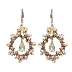 rose-gold-earrings.jpg What a great idea, lace as a scaffold for pearl and stone earrings