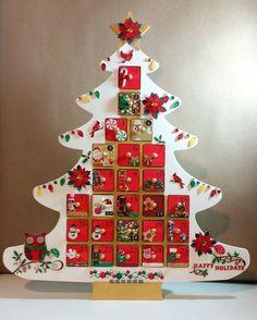 Wooden Christmas Tree Advent Calendar | Wooden advent calendar ...