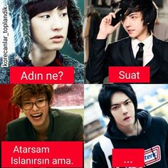 İlgili resim Funny Conversations, Bts Funny Videos, Funny Times, Cute Cat Gif, Funny Comedy, Chanbaek, Funny Moments, Really Funny, Caricature
