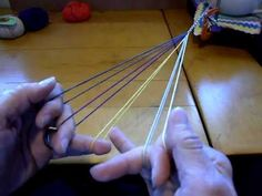 5-loop square fingerloop braid pt.2, V-fell. Finger loop braiding takes practice, but is doable. I am proof and available to help teach these to Shirelings.