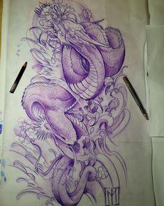 Positive Attributes Of Tattoos Asian Tattoos, Weird Tattoos, Sheng Long, Japanese Dragon, Koi Dragon, Japanese Koi, Japanese Sleeve, Tattoo Studio, Dragon Artwork