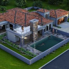 6 Bedroom House Plans – My Building Plans South Africa Round House Plans, Tuscan House Plans, House Plans With Photos, Dream House Plans, Modern House Plans, 6 Bedroom House Plans, Single Storey House Plans, Mansion Plans, House Plans South Africa