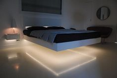 Floating bed... So freaking sexy and cool - E