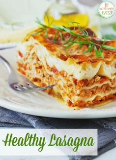 This just might be the most delicious healthy lasagna recipe ever.