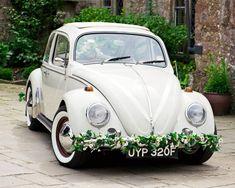 Wedding Car Decoration – 55 Romantic Decor Ideas - Vintage and Retro Cars Outside Wedding, Our Wedding, Bridal Car, Wedding Car Decorations, Beetle Car, Retro Cars, Autumn Wedding, Wedding Planner, Wedding Inspiration