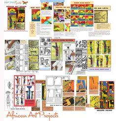 Creative Art Projects for Busy Teachers African Art For Kids, African Art Projects, Cs Lewis, Nikola Tesla, 5th Grade Art, Grade 3, Group Art Projects, Ecole Art, Africa Art