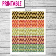 Chevron Glitter Full Box Stickers // Printable by PrettyStock