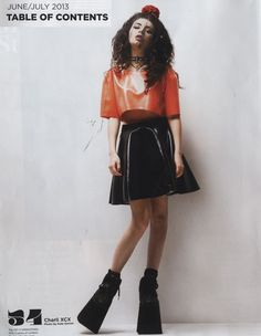 ((ameliegrahamm)) Charli Xcx, Boom Clap, Hollywood, Body Poses, Japanese Street Fashion, Two Pieces, Woman Crush, Going Out, Leather Skirt