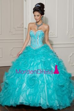 New Arrival Quinceanera Dresses Sweetheart Floor Length Ball Gown Beaded Bodice Pick Up Skirt