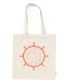 Loving this White 'Beach, Please' Tote on #zulily! #zulilyfinds