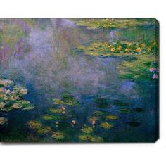 Claude Monet 'Water Lilies' Oil on Canvas Art - Overstock Shopping - Top Rated YGC Canvas