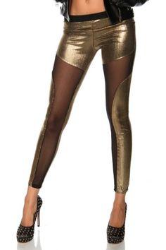 GLAMOUR Metallic Leggings (gold-schwarz)