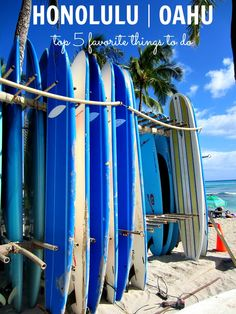 Top 5 Things to Do in Honolulu, Oahu #travel #Hawaii | clubnarwhal.blogspot.com