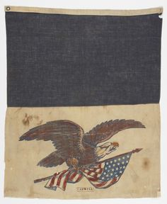 This piece was acquired by the Cooper Hewitt in 1995 and is made out of cotton and printed and painted on plain weave. It is part of the Textiles Department. #FlagDay