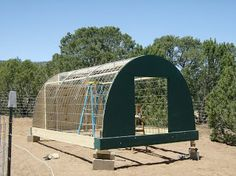 Flying H Ranch - Large Black Hogs, Pastured Pork, Artisan Pork, Heritage Pork, Rowe NM USA: Hog Hooch (Cattle Panel Hoop House)