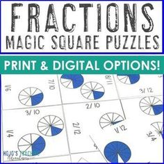 Digital Fractions Distance Learning Math Google Classroom or Packet - Great for 2nd, 3rd, 4th, 5th, or 6th grade students to focus on their #Fraction skills. Use for centers, games, review, test prep, and more. Print OR use the Google Slides option for at home learning. (second, third, fourth, fifth, sixth graders, Year 2, 3, 4, 5, 6) #Fractions #UpperElementaryMath #Math Multiplication Facts, Fractions, Maths Puzzles, 2nd Grade Classroom, Critical Thinking Skills, Home Learning, Year 2, Test Prep, Google Classroom