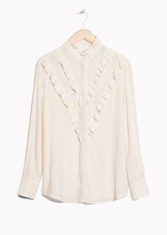 & Other Stories image 1 of Frilly Blouse in Off white