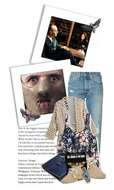 """""""The Silence of the Lambs (One of my all time favs)"""" by queenrachietemplateaddict ❤ liked on Polyvore featuring Levi's, Aéropostale, Soludos, Dara Ettinger and movie"""