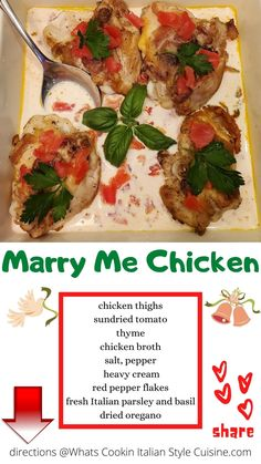 Plum Tomatoes, Creamy Sauce, Sicilian, How To Dry Oregano, Chicken Thighs, Italian Recipes, Main Dishes, Good Food, Dinner Recipes