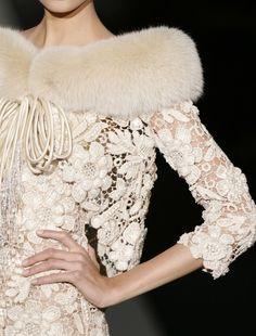 A Glimpse. Creamy lace & fur for winter!