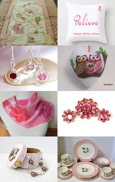 Pretty in Pink from the FEOTEAM by Lorraine on Etsy--Pinned with TreasuryPin.com