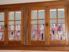 Window Treatments stained glass 4 panelsFREE Stained Glass Paint, Window Glass, Window Ideas, Sliding Glass Door, Beautiful Landscapes, Window Treatments, Glass Art, Bedroom Ideas, New Homes