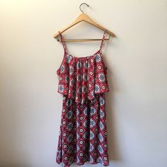 Printed Summer Dress Printed dress from Target. Elastic waistline, blouse like material. In great condition, no snags. Really flattering and cute, perfect with a pair of wedges for the summer! Xhilaration Dresses