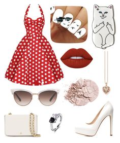 """Untitled #103"" by afreen1984 ❤ liked on Polyvore featuring Charlotte Russe, Tory Burch, Gucci, Thomas Sabo and Lime Crime"