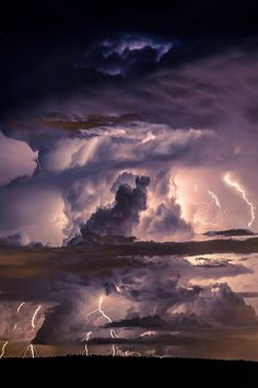 Supercell Thunderstorm ● Rose Brown ‿⭐️⁀☆҉✯ Collection● With Severe Cloud to Ground Lightning