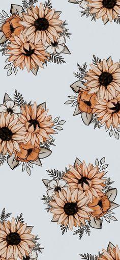 Flower Iphone Wallpaper, Hippie Wallpaper, Halloween Wallpaper Iphone, Plant Wallpaper, Sunflower Wallpaper, Flower Background Wallpaper, Cute Wallpaper Backgrounds, Pretty Wallpapers, Aesthetic Iphone Wallpaper