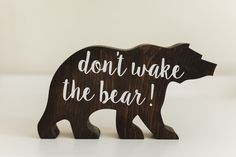 Woodland nursery - don't wake the bear - nursery decor by BabyBearOutfitters on Etsy https://www.etsy.com/listing/269897988/woodland-nursery-dont-wake-the-bear