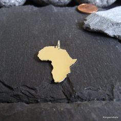 NEU AFRICA AFRIKA Landkarte Anhänger in 925er Silber