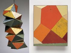 beautiful geometric work from Ted Larsen utilizing reclaimed materials