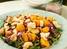 This recipe features warm butternut squash in a fall salad. That's different! Give it a try.