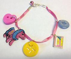 Classic #80s #MyLittlePony #MLP #Melody #Cassette ribbon charm bracelet
