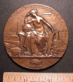 1894 Ecole Polytechnique Large Aviation Bronze Medal 522 | eBay