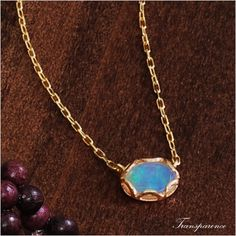 Rakuten: Gold Cem Kelly K10 antique yellow gold opal necklace pendant transparency [the jewelry which I want to put on in summer]- Shopping Japanese products from Japan