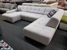 260.000.- Boogie U-form ülőgarnitúra: balos kivitelű, modern stílusú,ággyá nyitható ülőgarnitúra szürke szövet kárpittal. Ez az ülőgarnitúra extra akciós kiállított darab. Sofa, Couch, Lucca, Santa Fe, Modern, Furniture, Home Decor, Settee, Settee