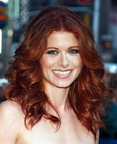 Debra Messing-- always has a stunning shade of red