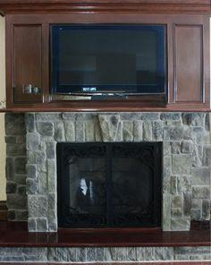 Fireplace Gallery, Stone Veneer, Flat Screen, Kitchen Appliances, Cottage, Home, Diy Kitchen Appliances, Home Appliances, Cottages